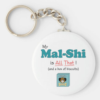 My Mal-Shi is All That! Basic Round Button Keychain