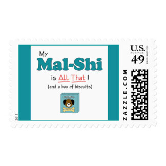 My Mal-Shi is All That! Postage Stamp