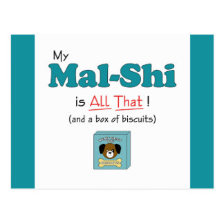 My Mal-Shi is All That! Postcard
