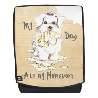 My Maltese Ate my Homework Backpack