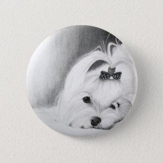 My Maltese Pinback Button