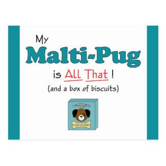 My Malti-Pug is All That! Postcard