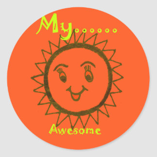 My Mam Is Awesome Classic Round Sticker