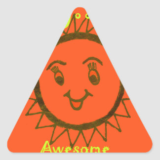 My Mam Is Awesome Triangle Sticker