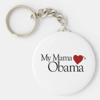 My Mama Loves Obama Keychain