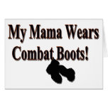 My Mama Wears Combat Boots Card Greeting Card