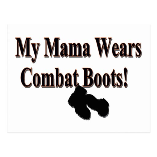 My Mama Wears Combat Boots PostCard