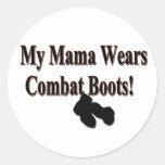 My Mama Wears Combat Boots Sticker Round Sticker