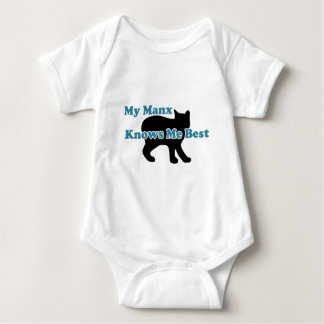 My Manx Knows Me Best Baby Bodysuit