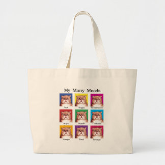 My Many Moods Large Tote Bag