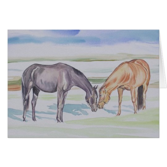 """""""My Mares"""" Horse Card"""