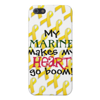 """""""My Marine Makes My Heart Go Boom!"""" Cover For iPhone SE/5/5s"""