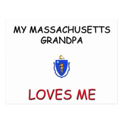 My Massachusetts Grandpa Loves Me Postcard