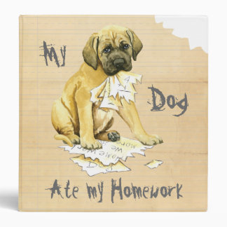 My Mastiff Ate My Homework 3 Ring Binder