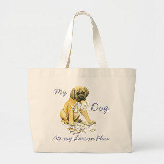 My Mastiff Ate my Lesson Plan Large Tote Bag