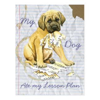 My Mastiff Ate My Lesson Plan Postcard