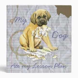 My Mastiff Ate My Lesson Plan Vinyl Binder