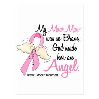 My Maw Maw Is An Angel 2 Breast Cancer Postcard