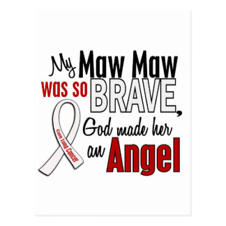 My Maw Maw Is An Angel Lung Cancer Postcard