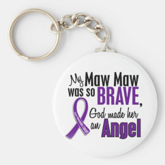 My Maw Maw Is An Angel Pancreatic Cancer Basic Round Button Keychain