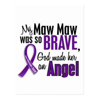 My Maw Maw Is An Angel Pancreatic Cancer Postcard