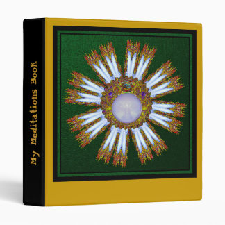 My Meditations Binder Green and Gold