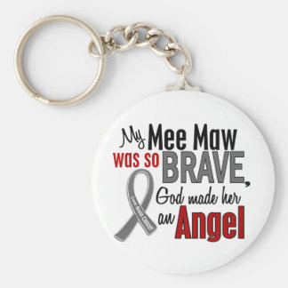 My Mee Maw Is An Angel 1 Brain Cancer Basic Round Button Keychain