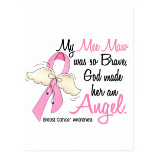 My Mee Maw Is An Angel 2 Breast Cancer Postcard