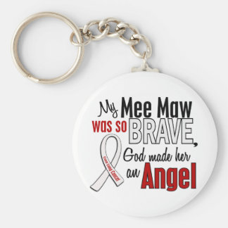 My Mee Maw Is An Angel Lung Cancer Basic Round Button Keychain