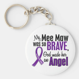 My Mee Maw Is An Angel Pancreatic Cancer Basic Round Button Keychain
