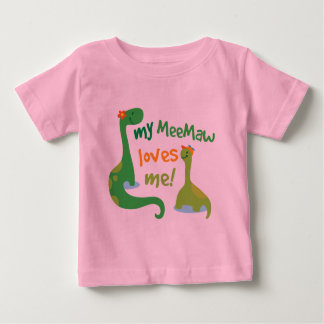 My Meemaw Loves Me Dinosaur Baby T-Shirt