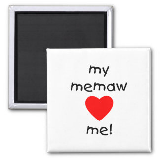 My memaw loves me 2 inch square magnet