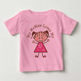 My Memaw Loves Me Stick Figure Baby T-Shirt