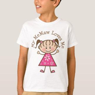 My Memaw Loves Me Stick Figure T-Shirt