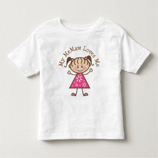 My Memaw Loves Me Stick Figure Toddler T-shirt