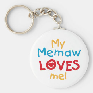 My Memaw Loves Me T-shirts and Gifts Keychain