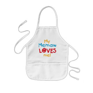My Memaw Loves Me T-shirts and Gifts Kids' Apron