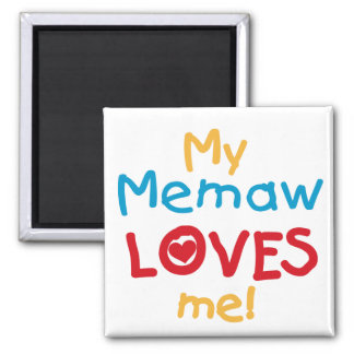 My Memaw Loves Me T-shirts and Gifts 2 Inch Square Magnet