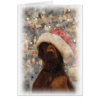 My Merry Christmas Vizsla Greeting Card