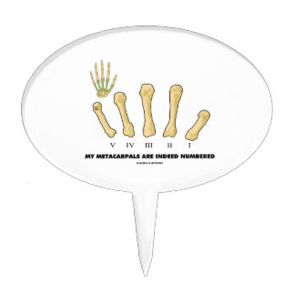 My Metacarpals Are Indeed Numbered (Anatomy) Cake Topper