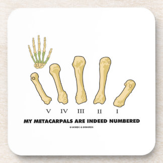 My Metacarpals Are Indeed Numbered (Anatomy) Coaster