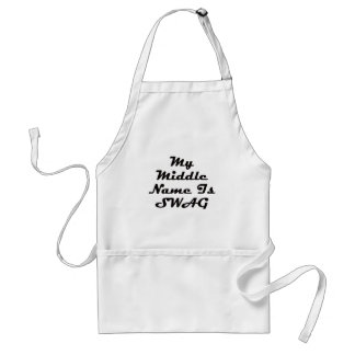 My Middle Name Is Swag Aprons