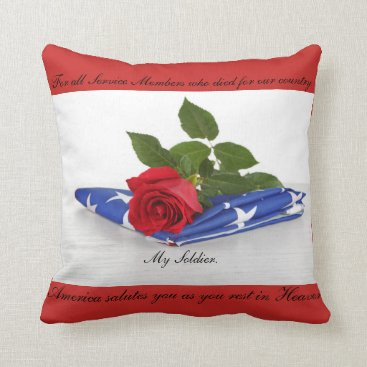 My Military Collection Throw Pillow