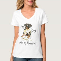 My Min Pin Ate My Homework T-Shirt