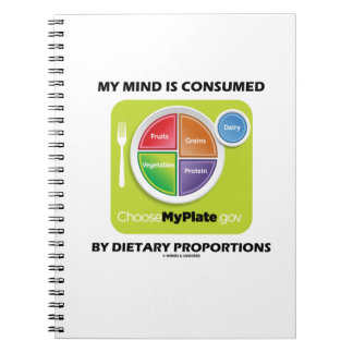 My Mind Is Consumed By Dietary Proportions Notebook