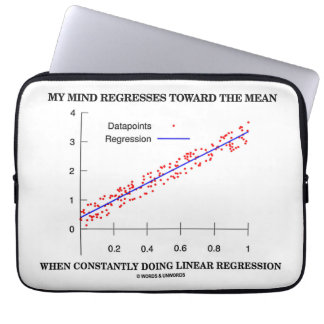 My Mind Regresses Toward Mean Linear Regression Laptop Sleeve