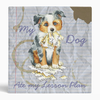 My Mini American Shepherd Ate My Lesson Plan 3 Ring Binder