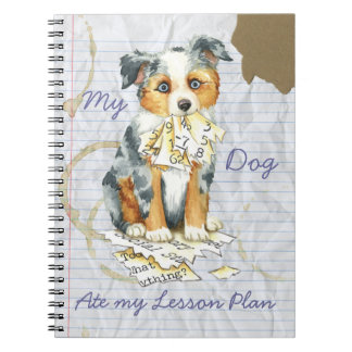 My Mini American Shepherd Ate My Lesson Plan Notebook