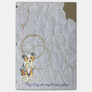 My Mini American Shepherd Ate My Lesson Plan Post-it® Notes