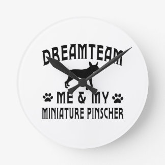 My Miniature Pinscher Dog Wall Clock
